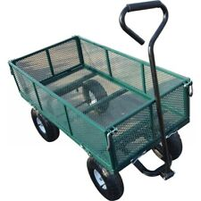 Luxen Home Metal Wagon in Green Mesh