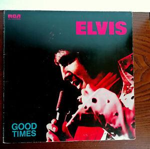 "12""  ELVIS PRESLEY  GOOD TIMES  RARE ALBUM ORANGE LABEL LP I^  PRESS ITALY  1974"