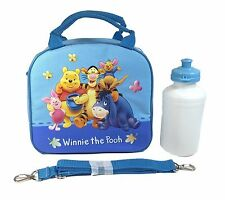 Disney Winnie The Pooh Shoulder Strap Light Blue Insulated Lunch Box School Bag