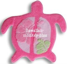 "NEW!! ~ ""TURTLE-SHAPED"" HAWAIIAN RUG/MAT ~ PINK!!!"