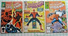 3 MARVEL COMICS '88-90 THE COSMIC SPECTACULAR SPIDER-MAN #134#158#160/SHIPS FREE