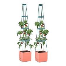 Tomaten Pflanzen Garten Kübel 2er Set Rankhilfe 25x150x25cm Zucht Anbau Topf