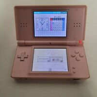 Nintendo DS Lite Coral Pink with Stylus Handheld Tested Genuine NO AC ADAPTER