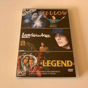 Willow / Ladyhawke / Legend - Genuine Region 4 RARE DVD 3 Disc Set