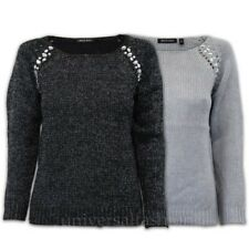 Ladies Jumper Brave Soul Womens Knitted Sweater Rhinestone Metallic Yarn Winter