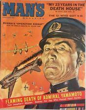 MAN'S MAGAZINE January 1961 Mel Crair cover, Syd Shores, Yamamoto, Film Monsters