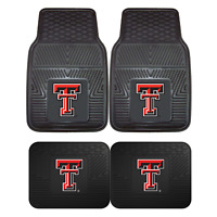 Texas Tech University 2pc & 4pc Mat Sets-Heavy Duty-Cars,Trucks,SUVs