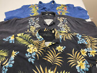 Lot Of 3 Tommy Bahama Mens 2XL Silk Short Sleeve Button Hawaiian Shirts XXL