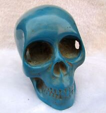 Free shipping china Tibet  Blue turquoise -skull statue~Decoration ~A160