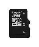 Kingston Micro SD HC Card Class 4 16gb