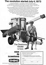 1973 Dealer Print Ad of OMC Owatonna Manufacturing Co 424 RAMM Mixer revolution