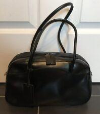 Black Leather Bowler Bag