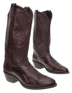 DAN POST Cowboy Boots 8 M Womens Oxblood Burgundy Leather Western Boots Biker