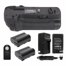 Battery Grip For Nikon D500 + 2x EN-EL15 Batteries + Charger + Universal Remote