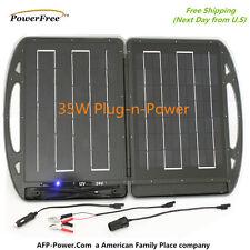Portable Plug-n-Power 35W 35 Watt 12V Foldable Solar Charger Briefcase Global