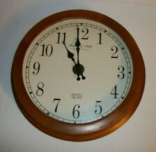 Sterling and Noble Wall Clock Oak Frame Reg Serial 2,055,787 Mfg No. 9