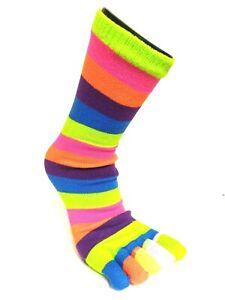 """5-Zehen-Socken """" Colourful Stripes """" Size"""