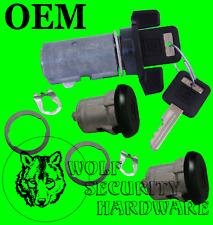 GMC Sonoma S15 82-94 & Others Ignition & Door Lock Cylinder Set Black 2 GM Key