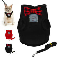 Soft Air Mesh Cat Step-in Harness Leash Puppy Kitten Walking No Pull Vest S M L