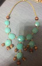 """Avon Turquoise Brown Bib Statement 18"""" Necklace"""