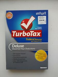 2012 TurboTax Deluxe Windows & Mac CD Federal & State