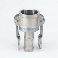 """3//4/"""" CAMLOCK CAM AND GROOVE FITTING E075SS CAM LOCK STAINLESS STEEL"""