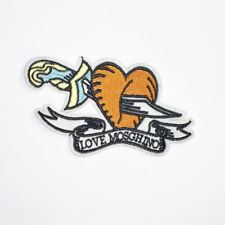 Orange Sword Love Mosghino (Iron On) Embroidery Applique Patch Sew Iron Badge