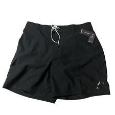 Nautica Mens Black Swimming Trunks Black Pocket Net Lined Cargo 1XLT Swim Wear