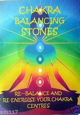Natural Crystal Chakra Healing Gemstone Set Reiki Gridding Chart 7 Natural Stone