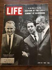 Vintage June 30 1967 LIFE MAGAZINE  Kosygin At The U. N. Summit At Glassboro
