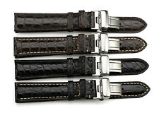 18mm Genuine Alligator Croco Leather Strap Watch Band Deployant For Tissot