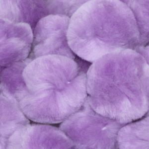 1 inch Lavender Small Craft Pom Poms 100 Pieces