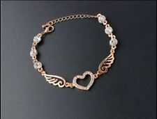 Unbranded Crystal Chain Rose Gold Fashion Bracelets