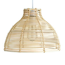 Rustic Cream Wicker Rattan Basket Ceiling Pendant Light Shade Lampshade Home