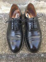FlorsheimMen's Black Leather Lace Up Cap Toe Dress Oxford Size 8.5 E Imperial