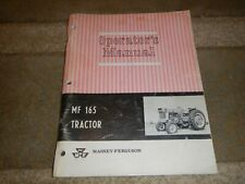 New ListingMassey Ferguson Mf165 Gas & Diesel Farm Tractor Owner's Operator's Manual Book