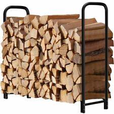 Soporte registro estante leña para chimenea apilador madera resistente 4 ft