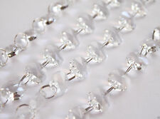 Crystal Glass Bead Curtain 6.6FT Garland Strand Hanging Chains Centerpiece Decor