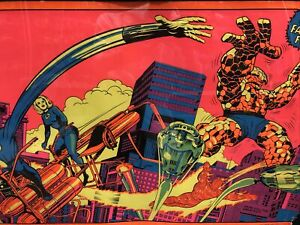 Vintage Marvel 1970's Third Eye Fantastic Four Blacklight Poster Marvelmania