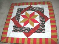 HANDMADE QUILTED Quilt LAP CRIB BLANKET SF 49ERS FOOTBALL SAN FRANCISCO 48X48