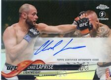 2018 Topps UFC Chrome CHAD LAPRISE 1ST Fighter Auto Refractor Card Autograph