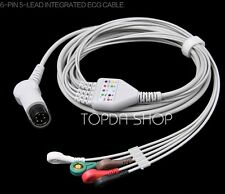 1pc TPU 6Pin 5-Lead INTEGRATED ECG CABLE For MindryPM7000 8000 9000 MEC1000 2000
