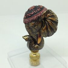 "Lucky ELEPHANT LAMP FINIAL Decorated Asian Indian 3"" Ornate Home Safari Decor"