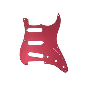 1 Ply Pickguard for US/Mexico 11 Hole Fender Standard Strat Red Mirror Acrylic