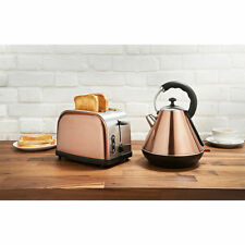 Sleek Modern Copper 1.8L Electric Kettle and 2 Slice Toaster Breakfast Set