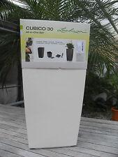 3 X Lechuza Cubico 30 Premium weiß Hochglanz Komplettset