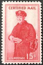 1955 15c Certified Mail single, Scott #FA1, MNH, F-VF