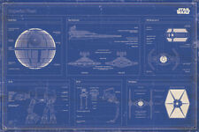 STAR Wars Flotta Imperiale BLUEPRINT 91.5X61CM MAXI POSTER Nuovo Ufficiale Merch