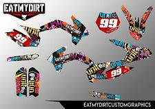 KTM 85 2013-2017 SEMI CUSTOM GRAPHICS KIT STICKERS MOTOCROSS DECALS MX MOTOCROSS