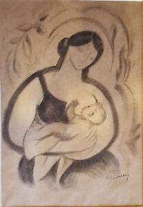 Cubist  Exquisite signed work European circa 1930